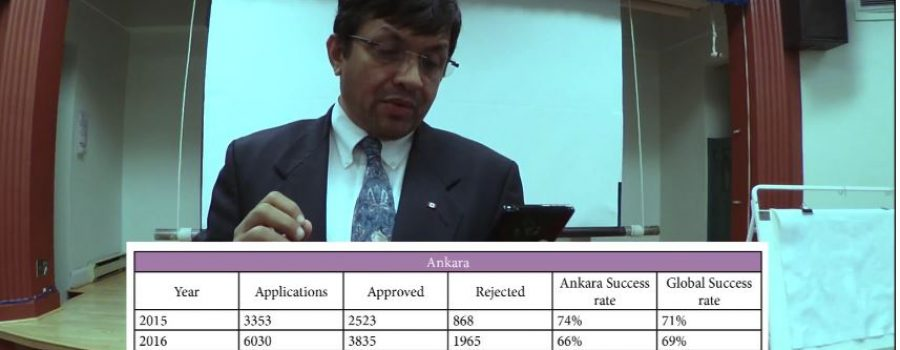 Ankara Canada embassy student visa success rate, Joy Stephen talk, Thunder Bay Library